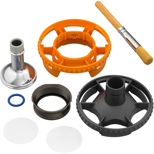 All the parts included with the Filling Chamber for Volcano Hybrid